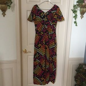 Colorful Psychedelic 60s Dress
